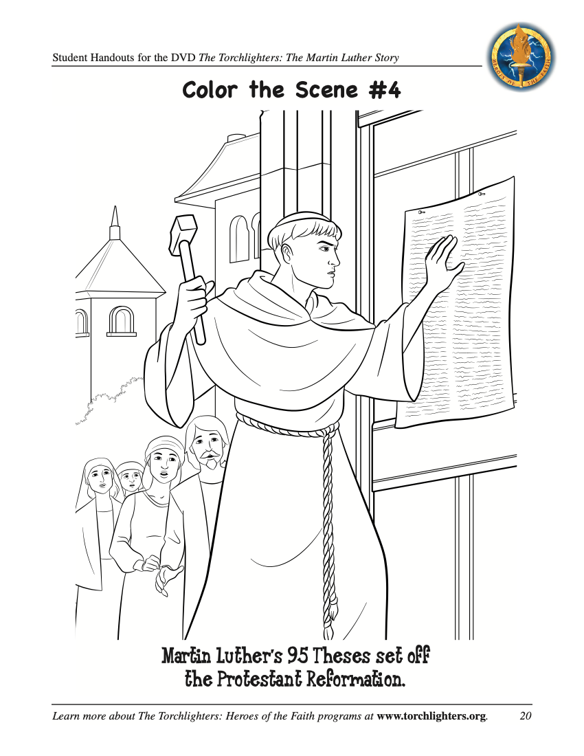 Martin Luther Activities | The Torchlighters
